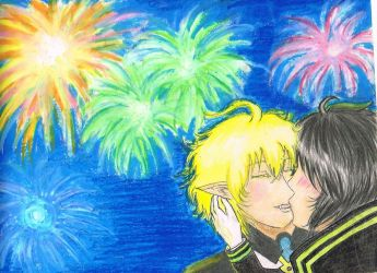 Kiss Under the Fireworks by NouirrenX1412