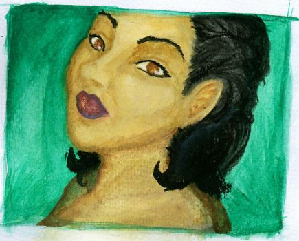first attempt painting acrylic by C-Katt