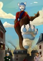 Giantess Draw - Alysha Vexx in Town by Colonel-Gabbo