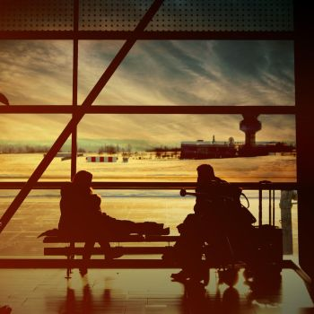 Airport Family Silhouette by Akaeya-Lovely
