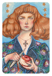 The Witch and the apple by mahtte