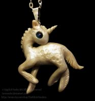 Baby Unicorn Necklace by carmendee