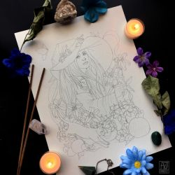 A witch within nature by AmandaRamsey
