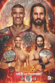 Seth Rollins and Jason Jordan Raw Tag Champs by SK-Graphix