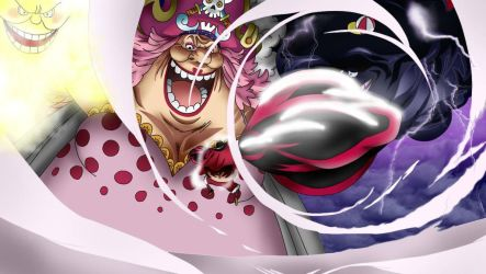 G4 Luffy vs Bigmom by MohaSetif