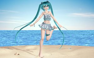 Swimsuit Miku by Primantis