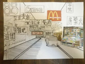 Hong Kong in pen - an experiment by ElysseFray111