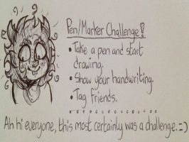 Pen/Marker Challenge by Retro-tv