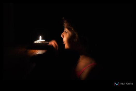 The Lamp Light by vinayan