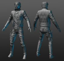 Captain Solo Zbrush model by RedHeretic