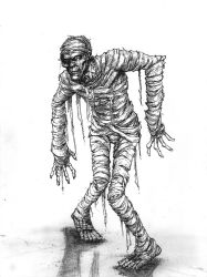 The Mummy from Monster Squad by J-WRIG