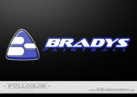Bradys Paintball Logo by FullcolorCreative