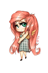 Chibi fluttershy png by LuleMT