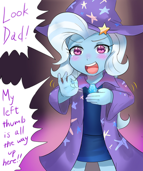Trixie's First Magic Trick by iojknmiojknm