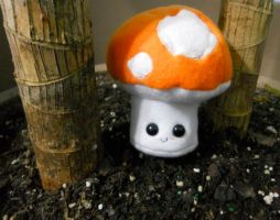 Orange Mushroom Plushie by Love-Who