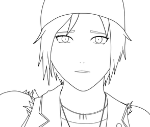 Chloe Selfie Lineart by RichardRiot