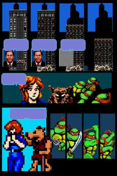 Video Game Tribute Comic (Mirage TMNT v.1 #2) by oldmanwinters