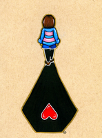 Frisk's Shadow by MaddogsArt