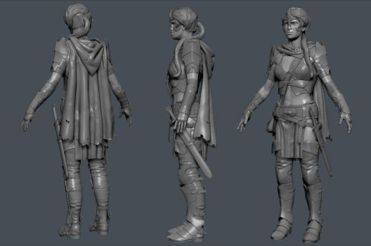 Female Orc Warrior  - WIP by xenoo