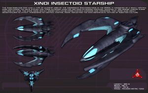 Xindi Insectoid Starship ortho [New] by unusualsuspex