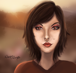 Painting Woman by gatadaay