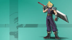Super Smash Bros. 4 - Cloud Strife Wallpaper by TheExodude
