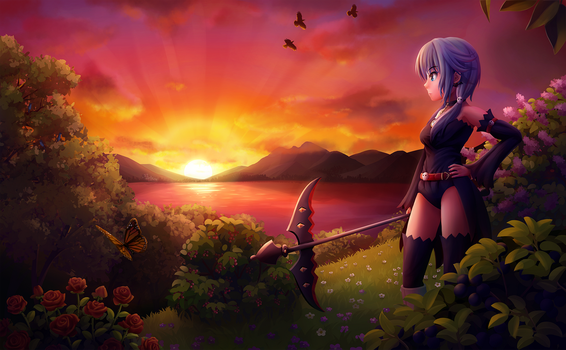 [Watcher roulette #1] Lunai + Sunset by Solmyr2000