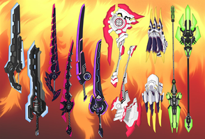 Hyperdimension Weapons pack by Daiger1975