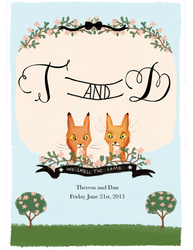 Foxy Save The Date by Mikomi-Hatake