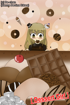 Old Drawing : Dessert Girl by DeanaHere