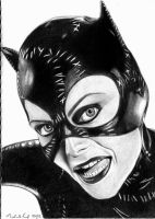 Michelle Pfeiffer as Catwoman by DawnsLaugh