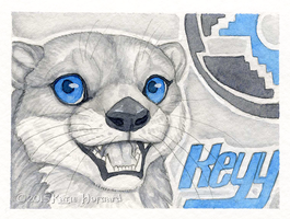 Keyy Otter Badge by KatieHofgard