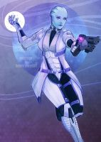 ME: Liara by Weissidian