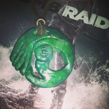 Tomb Raider Necklace by poisiongirl
