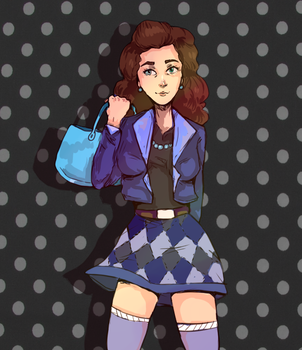 My firend as a 80s by GingerAdy