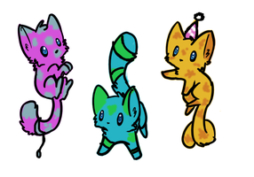 Kitty point adoptables (CLOSED) by Silversadopts