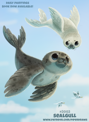 Daily Paint 2002# Sealgull by Cryptid-Creations