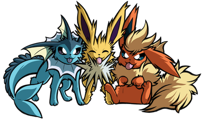 Trolling you Eevee back by SoftMonKeychains