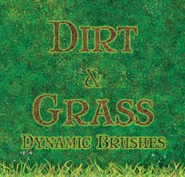 Dynamic Dirt and Grass Brushes by merrypranxter