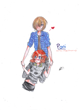 Shojo Ai: Toni and Poppy by GoldenPineappleTree