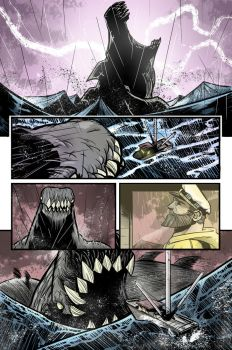 the old man and the sea monster page 4 by LucaSLZ