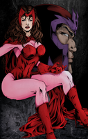Scarlet Witch + Magneto by Sorathepanda