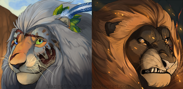 Lioden Icons by BlazingBlackMage