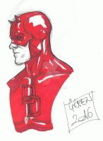 Daredevil - copic sketch! #2 by greenisagoodboy