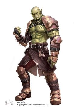 Tales of Arcana Orc Male by MiguelRegodon