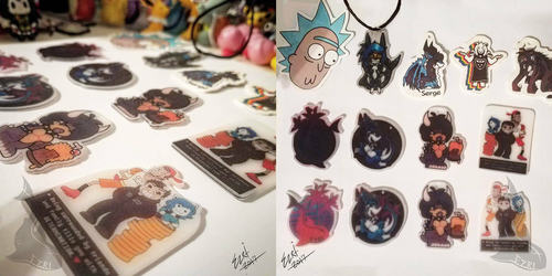 Clear Plastic Charms | Custom Made by EzriArt