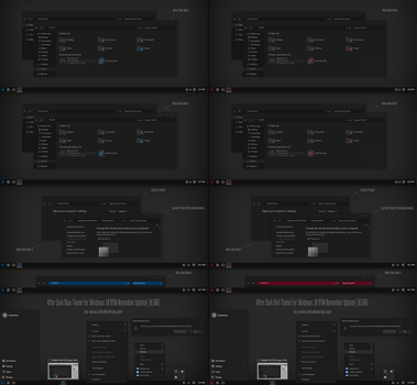 After Dark Blue and Red Theme For Windows 10 by Cleodesktop