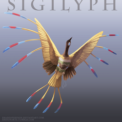 Pokemon Reimagined: Sigilyph by ShadeofShinon