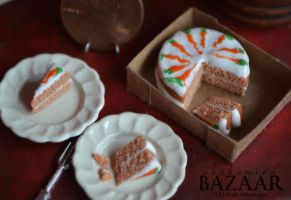 Carrot Cake 1:12 Scale by TheMiniatureBazaar