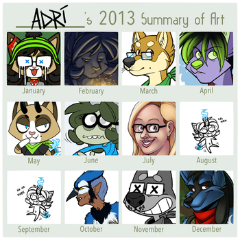 2013 art summary by AdriOfTheDead